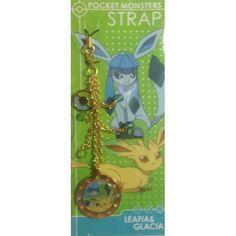 Pokemon Center 2013 Leafeon Glaceon Mobile Phone Strap