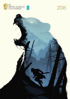 BAFTA Best Film Posters (The Revenant) by Levente Szabó. Double meaning design. Directed by Human After (Who provide design solutions for communication challenges.)
