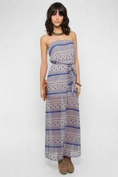 I Want Samoa Maxi Dress in Blue $74. Perfect for Spring/Summer