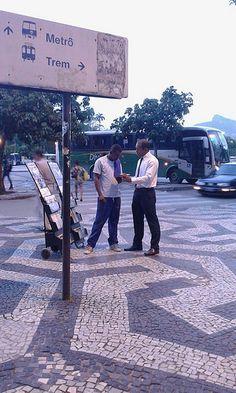 carrinho de publicação no centro do rio de janeiro, brasil