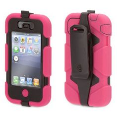 Griffin Pink/Black Heavy Duty Survivor All-Terrain Case for iPhone - Extreme-duty case for iPhone 4 and iPhone Iphone 4s, Iphone Cases, Apple Iphone, Protective Cases, Pretty In Pink, Apple Watch, Cell Phone Accessories, Pink Black, Environmental Factors