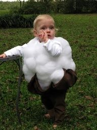 Cotton Boll Costume - how adorable! Holidays Halloween, Halloween Fun, Halloween Costumes, Party Costumes, Toddler Halloween, Vintage Halloween, Halloween Makeup, Happy Fall Y'all, Cool Costumes