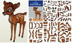 Bambi, The Deer Paper Model - by Corbak Papercraft    ====            From 1942`s disney animation, here is Bambi, in a perfect version in paper created by French designer Corbak.