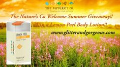 Summer Giveaway…Do participate and win this lovely citric lotion from The Nature's Co.