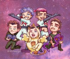 This is adorable Zayn One Direction, One Direction Cartoons, One Direction Drawings, 5 Best Friends, Love U Forever, Team Rocket, Fanart, Cartoon Drawings, Kawaii Drawings