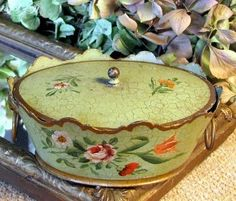 French Tole covered Box