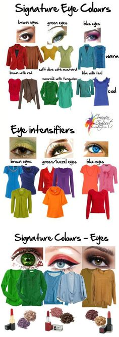 Your best colours according to the colour of your eyes.