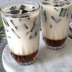 Refreshing Drinks, Yummy Drinks, Healthy Drinks, Healthy Smoothies, Indonesian Desserts, Indonesian Food, Milk Tea Recipes, My Coffee Shop, Pudding Desserts