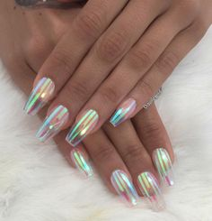 Glass Effect Coffin Nails