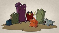 Square Creatures by karinafaria