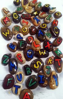 alphabet rocks-we made these and my kids LOVED them! Easy craft too!