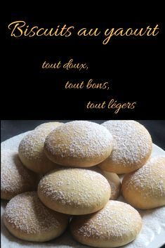 Biscuits au yaourt Yogurt cookies without butter, very sweet, very good, very light … cookies# butterless # pastry Baby Food Recipes, Cake Recipes, Dessert Recipes, Desserts With Biscuits, Biscotti Cookies, Yogurt Cake, Easy Desserts, Food And Drink, Baking
