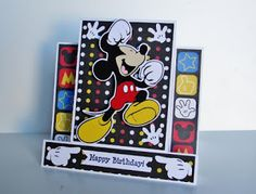 Cricut Mickey Mouse Happy Birthday center step card