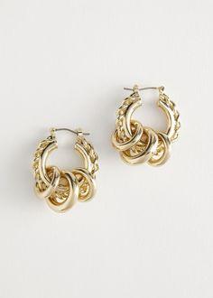 Mini Hoop Earrings, Hanging Earrings, Coin Pendant, Star Pendant, Fendi, Lobe, Chunky Chain Necklaces, Jacquemus, Gold Statement Earrings