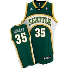 Kevin Durant Authentic In Green Adidas NBA Oklahoma City Thunder Seattle  SuperSonics Style Men s Jersey 772f36294