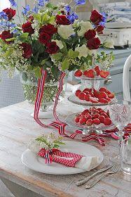 Vi pynter til 17 mai ! Vibeke Design, Aesthetic Room Decor, Mixed Berries, Wall Shelves, Shelf, Twists, Fourth Of July, Christmas Wreaths, Entertaining