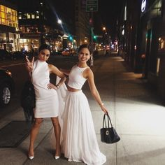 Our girl group shot. The New York white out. @kimhidalgo