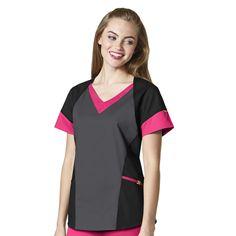 WonderWink Seven Flex Women's Modified V-Neck Scrub Top Scrubs Pattern, Medical Uniforms, Nursing Uniforms, Uniform Advantage, Scrubs Uniform, Medical Scrubs, Scrub Tops, V Neck Tops, Fashion Brands