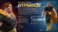 Marvel Contest of Champions - Hyperion's Bio