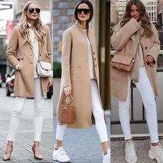 Fashionable Ideas to Wear Trench Coat for Trendy Women – Designers Outfits Col. Mode Outfits, Winter Outfits, Fashion Outfits, Womens Fashion, Classy Outfits, Stylish Outfits, Beige Hose, Camel Coat Outfit, Cooler Look