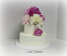 Rustic Iced Wedding Cake - Cake by Donna Tokazowski- Cake Hatteras, Hatteras N.C.