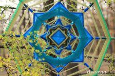 Mandala Ojos de Dios about spring blue sky and new roads. By Isolda mandalas (Tatiana Slinka)