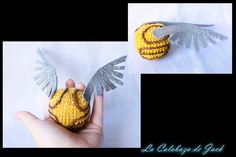 Snitch Amigurumi (Harry Potter) By Cristell Justicia/La calabaza de Jack ->Follow my work: ~Facebook: https://www.facebook.com/LaCalabazaDeJack ~Tumblr: http://lacalabazadejack.tumblr.com/ ~Deviantart: cristell15.deviantart.com   #Quidditch #Snitch #Rowling #Hogwarts #Harry #Potter #Gryffindor #Hufflepuff #Ravenclaw #Slytherin #Amigurumi #Pattern #Crochet #Knitting #Plush #Yarn #Handmade #Craft