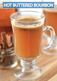 This smooth and savory Hot Buttered Bourbon cocktail recipe will soon be your favorite drink to sip on by the fire! Save this recipe for fall and for all of your holiday parties this year.