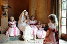 The cutest #flower #girls! #Wedding picture by #DominoArts #Photography (www.DominoArts.com)