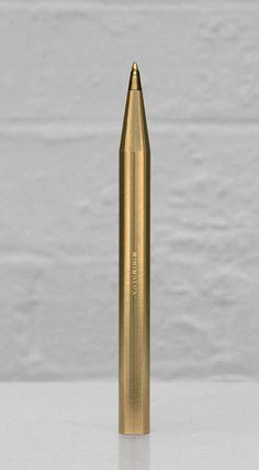 Minimalist Brass Pen