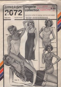 Stretch & Sew 2072 Misses Lingerie Pattern Panties by mbchills