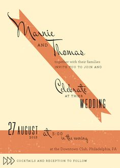 wedding invitations - Mid century savoir faire by Flora Poste Studio