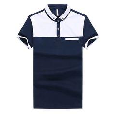 Cheap men korean, Buy Quality korean men directly from China shirt polo Suppliers: Men's Summer Korean Short-Sleeved Shirt White blue and white Polo Rugby Shirt, Polo Shirt Brands, Rugby Shirts, Camisa Floral, Polo Shirt Design, Classy Men, Camisa Polo, Designer Clothes For Men, Urban Fashion