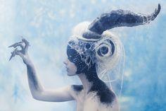 """12 Creatures of the Zodiac"" series ""Capricorn"" - Photographer: Susann Daljord / Costume & HMua: Ida Astero / Model: Annette Lunde"