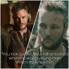 Ragnar compared to Ubbe (Vikings) Vikings Show, Vikings Season 4, Vikings Tv Series, Lagertha, Ragnar Lothbrok Vikings, Ragner Lothbrok, Travis Vikings, Viking Pictures, Sons Of Ragnar