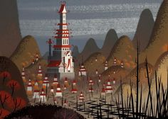 Bill Wray Samurai Jack Background Painting. Amazing!!!