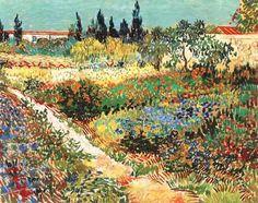 Vincent Van Gogh | The Garden at Arles - Vincent van Gogh als Kunstdruck oder ...