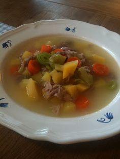 Billig og god middag: Hjemmelaget suppe lapskaus med røkt svineknoke