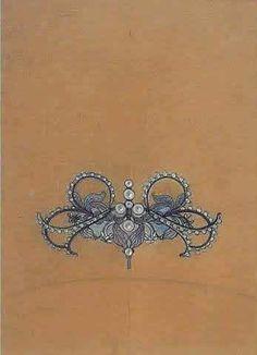 Pendant sketch by Lalique, 1895. The Me I Saw (Public Domain)