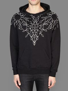 SS14 w/ Marcelo Burlon hooded sweater with maxime print around the neckline