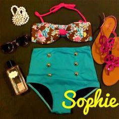Sophie High Waist Swimsuit