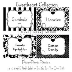 Poisoned Candy Printable Label Sheets | Candy labels, Free ...