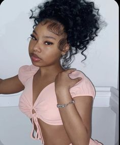 Baddie Hairstyles, Black Girls Hairstyles, Weave Hairstyles, Cute Hairstyles, Beautiful Black Girl, Pretty Black Girls, Black Girl Aesthetic, Aesthetic Hair, Curly Hair Styles