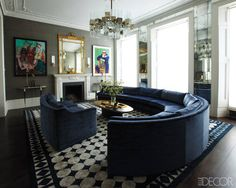 That sofa - love the colour, love the curve    Grand Gestures