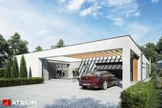 Projekt Horizontal - elewacja domu
