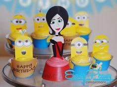 Minion Birthday Cupcakes Set #2