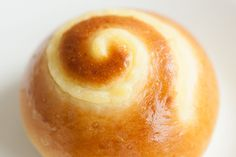 Custard Buns: a sweet, yeasted dough, with a custard filling and a spiral piped on top - The Fresh Loaf