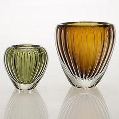 Glass Design, Design Art, Cut Glass, Glass Vase, Blown Glass Art, Colored Glass, Finland, Modern Contemporary, Perfume Bottles