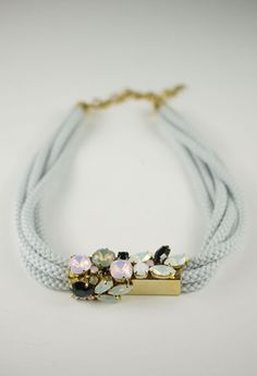 cord crystal necklace