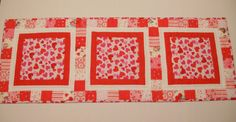Patchwork Valentine Table Runner Table by ForgetMeNotQuilteds